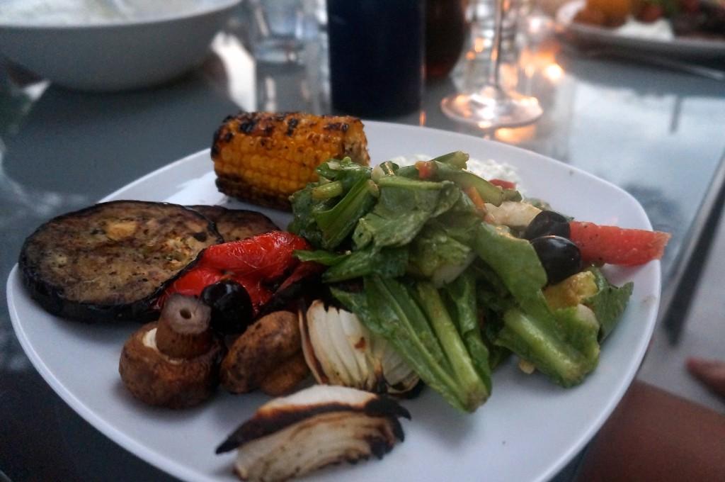 Vegetarisk grilltallrik